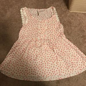 Lauren Conrad White Red Dotted Blouse Size Large